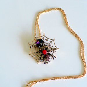 Jewelry - ❤️ NEW Necklace & Pin Spider Purple & Red
